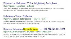 Resultados Naturales de Google
