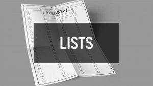 Printable Lists