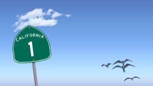 Californa Highway Schild USA