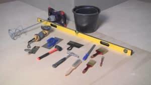 инструменты для ремонта ванной комнаты