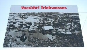 Plakat des Umweltministerium, fotographiert August 2009