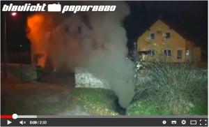 Gullybrand in Alt-Burgk: Der Youtube-Kanal von Blaulicht-Paparazzo zeigt Bilder, Link siehe unten / Screenshot: Youtube
