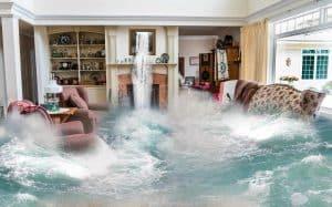 Wohngebäude Überschwemmung Schäden