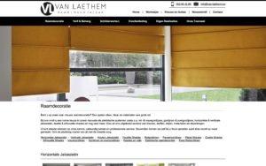 Website ontwerp decoratie Van Laethem Welle Denderleeuw CMS op maat