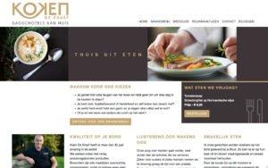 Op maat website + admin module voor beheer dagschotels en klanten voor Koen De Graef