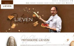 Website voor Patisserie Lieven met custom CMS