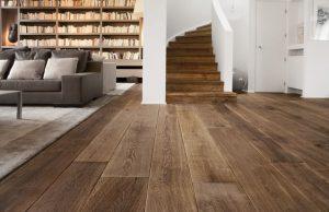 Diktes oude houten vloeren