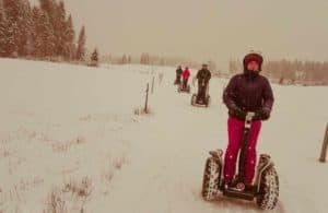 starker Schneefall bei Segway Tour in Westendorf Tirol