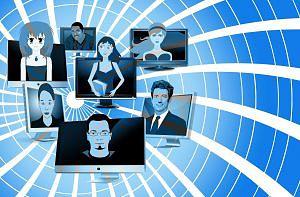 Personenbilder mit Email-Adressen von Netzprofilen