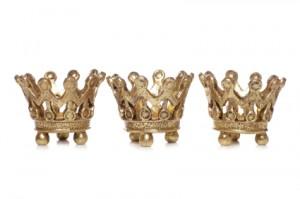 Three king crowns christmas decoration