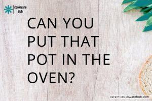 oven proof pots