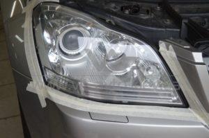 Полировка фар Mercedes GL 500 фото 1