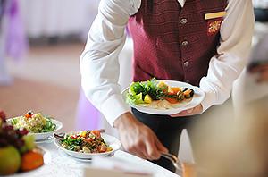 preparing food plates