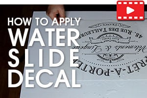 How to Apply Large Water Decals Tutorial