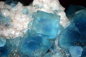 usos fluorita de color azul