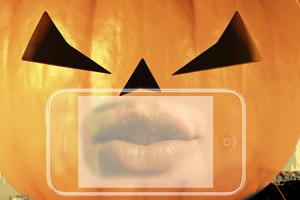 Die Haustür zum Halloween-Gewinnspiel machen