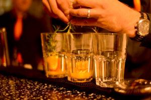 Cocktails auf dem Messestand