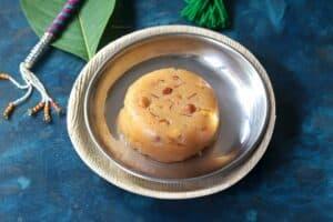 Aval Kesari (South Indian Poha Sheera  for Gokulashtami)