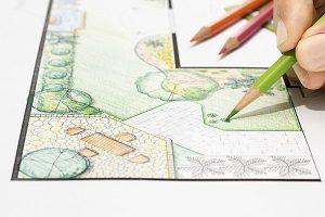 Landschaft, Garten, planen, Grundriss