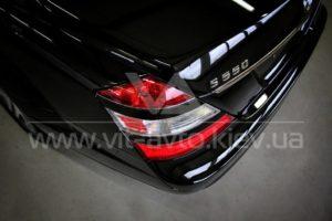 Нанокерамика на Mercedes S550 фото сзади