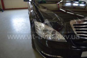 Фото антигравийной защиты кузова Mercedes w221 - 3