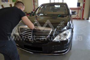 Фото антигравийной защиты кузова Mercedes w221 - 5