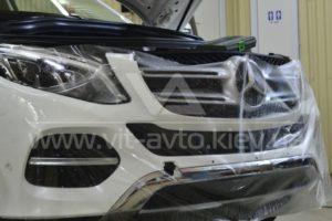 Фото антигравийной защиты кузова Mercedes-Benz ML - 4