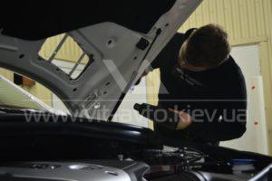 Фото антигравийной защиты кузова Mercedes-Benz ML - 6