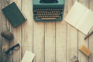 fond ecran vintage machine a écrire