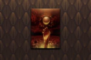Illustration för novellen Blomstertid för Mars utgiven av Darkness Publishing