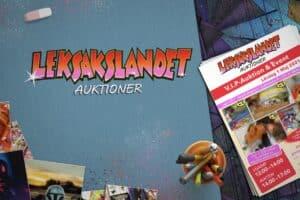 Logotyp och flyer skapade åt Leksakslandet Auktioner.