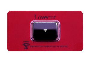 Lovecut blister diamante taglio a cuore 0.24 carati - Foto prodotto