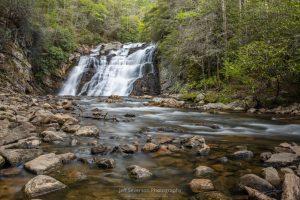 A long exposure photograph of the Laurel Falls waterfall in Hampton, TN.