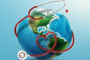 Pretravel Consultation - World with Stethoscope