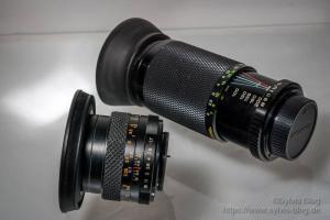 Yashica Yashinon OS-M 50 mm F1.7 und Soligor 80-200 mm Zoom Macro F4.5
