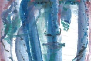 Shafik Radwan, Untitled SR.05 (2014), watercolor on paper, 42 x 30 cm