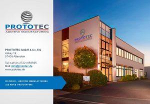 Unternehmenspräsentation 3D Druck und Rapid Prototyping von Prototec GmbH & Co. KG
