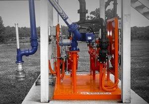 blending metering loading skids