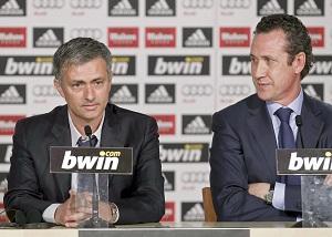 New Real Madrid head coach Jose Mourinho