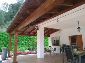 Porche de brezo vista interior