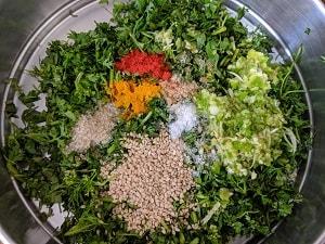 Ingredients for Kothimbir Vadi