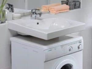 как установить стиральную машину под раковину