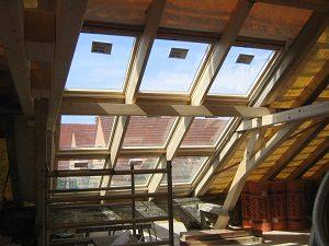 Glaselemente für das Dach bei Tipp zum Bau