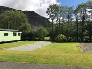 Minafon Caravan park empty pitch
