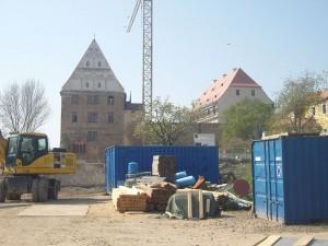 Das Schloss in Grimma während der Sanierung / Foto: Wikipedia/z Thomas