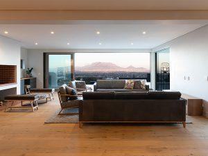 Houten vloer in modern interieur