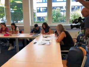 Deutschkurs mit Kamerateam