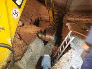 Oprava vodovodného potrubia Lamač