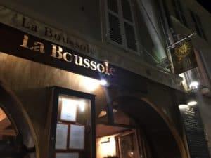 La Boussole restaurant sign