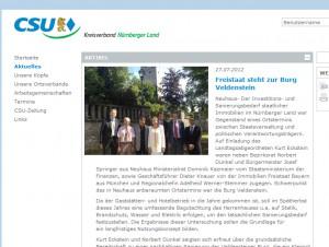 Staatstragend: CSU-Besuch auf Burg Veldenstein.